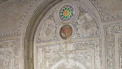 دمشق - المدرسة الشامية ..زخارف غرفة الأضرحة (18)