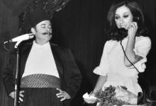 صورة دمشق 1970- نصري شمس الدين في أحد عروض معرض دمشق الدولي