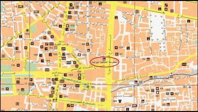 خريطة دمشق والمدرسة الشامية البرانية الكبرى (2)