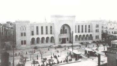 دمشق 1953 – شارع النصر ومبنى المشيرية العسكرية.. مبنى القصر العدلي (10)