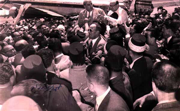 صورة دمشق 1954 – استقبال شكري القوتلي بعد خمس سنوات من المنفى