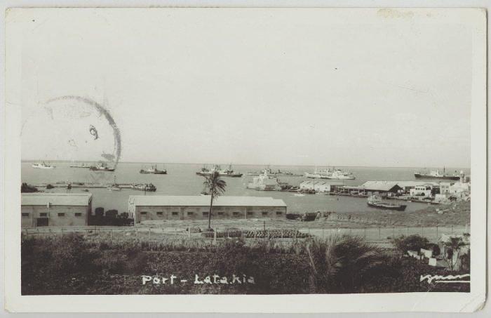 ميناء اللاذقية عام 1958