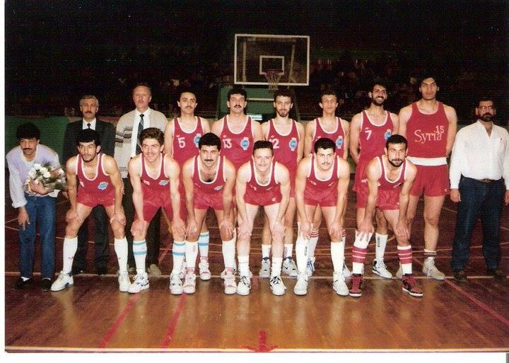 المنتخب السوري بكرة السلة في البطولة العربية بدمشق 1992