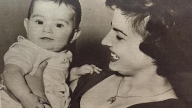 مهيبة المالكي الدسوقي في احتفال جمعية (نقطة حليب) بعيد الأم عام 1959