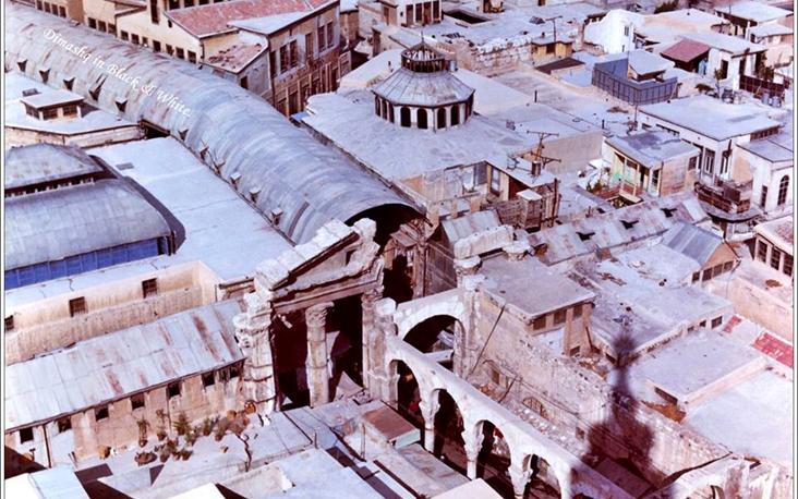 دمشق 1948 - سوق الحميدية ووكالة المرادية وبيت الشيخ قطنا