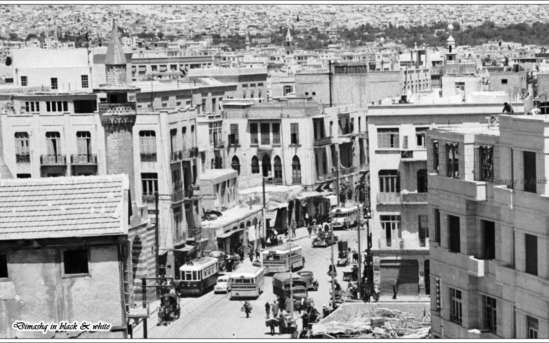 دمشق - محلة ومسجد الدرويشية في خمسينيات القرن العشرين
