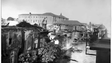 دمشق 1928 - حريق محلة السنجقدار من الشرق