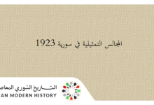 صورة المجالس النيابية والتمثيلية في سورية 1923