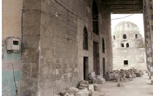 دمشق – المدرسة الشامية - واجهة باب التربة الحسامية قبل الترميم (32)