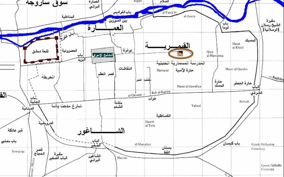 المدرسة المسمارية الحنبلية في دمشق - المخطط (3)