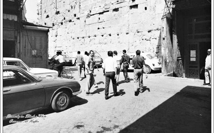 دمشق 1985 - الباب الجنوبي أو باب الزيادة في المسجد الأموي