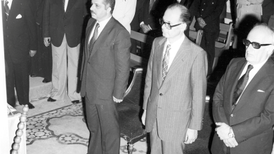 صورة محمد علي الحلبي رئيس وزراء سورية في تشييع البطريرك الياس معوض (2)