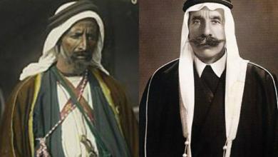 صورة سلطان الأطرش والشيخ عودة أبو تايه عند نهب أسواق دمشق 1918