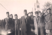 صورة الرئيس شكري القوتلي في اللاذقية عام 1944