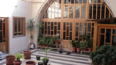 دمشق - المدرسة المسمارية الحنبلية  - الصحن (6)