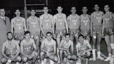 فريق نادي الغوطة لكرة السلة عام 1967