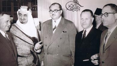 سعيد الغزي وفيصل بن عبد العزيز في الخمسينيات