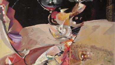 صورة تكوين .. لوحة للفنان أحمد مادون (6)