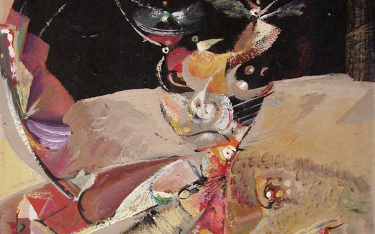 تكوين .. لوحة للفنان أحمد مادون (6)