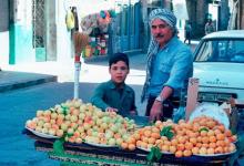 صورة دمشق 1983- تقاطع جادة كرجية حداد مع الحارة المؤدية لمسجد المرادي