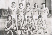 صورة نادي الوحدة قبل مباراته مع نادي الجلاء عام 1977