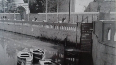 صورة دمشق – الزوارق في نهر بردى في الخمسينيات