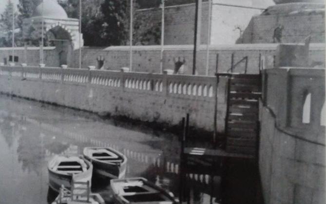 دمشق - الزوارق في نهر بردى في الخمسينيات