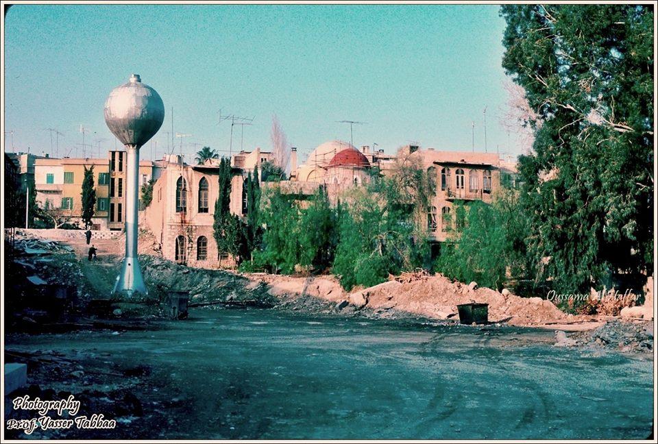 دمشق 1983 - المدرسة والتربة الفروخشاهية والتربة الأمجدية