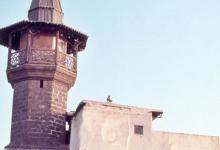 صورة دمشق 1983 – مسجد الباشورة في الشاغور