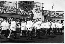 صورة الوفد السوري المشارك في دورة ألعاب البحر الأبيض المتوسط في برشلونة 1955