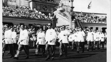 الوفد السوري المشارك في دورة ألعاب البحر الأبيض المتوسط في برشلونة 1955