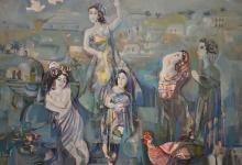 نساء .. لوحة للفنان أحمد مادون