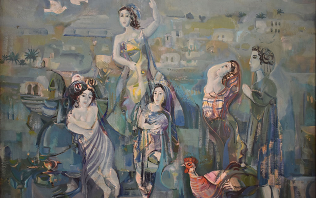 نساء .. لوحة للفنان أحمد مادون (8)