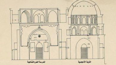 صورة دمشق –  مخطط توضيحي للمدرسة الفروخشاهية والتربة الأمجدية (11)