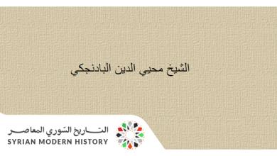صورة الشيخ محيي الدين البادنجكي .. الموسوعة التاريخية لأعلام حلب