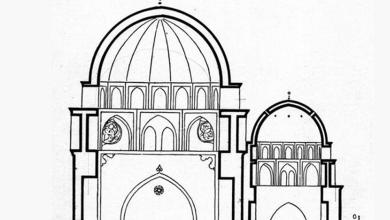 دمشق –  مخطط توضيحي للمدرسة الفروخشاهية والتربة الأمجدية (10)