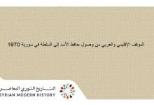 صورة الموقف الإقليمي والعربي من وصول حافظ الأسد إلى السلطة 1970