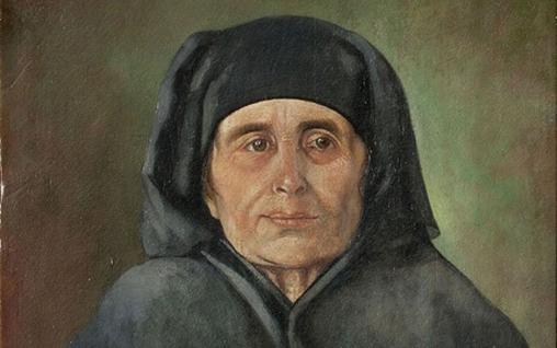 الأم .. لوحة للفنان توفيق طارق