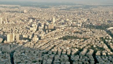 دمشق من قاسيون عام 1992