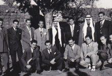 صورة الأديب سلامة عبيد مع سلطان باشا الاطرش ومجموعة من أصدقائه