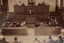 شاكر الشعباني يلقي خطاباً في إفتتاح دورة جديدة للبرلمان السوري