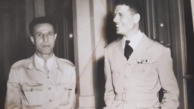 عدنان المالكي ونقولا سلامة في نادي ضباط موقع دمشق 1954