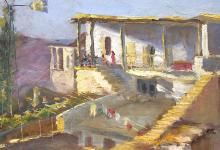 بلودان 1940 .. لوحة للفنان ميشيل كرشة (1)