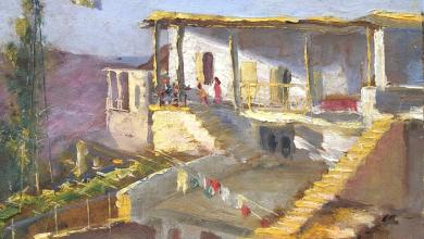 صورة بلودان 1940 .. لوحة للفنان ميشيل كرشة (1)