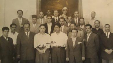 صورة دمشق – رجال التحري والتعقيب أمام مدخل شعبة التحري عام 1955