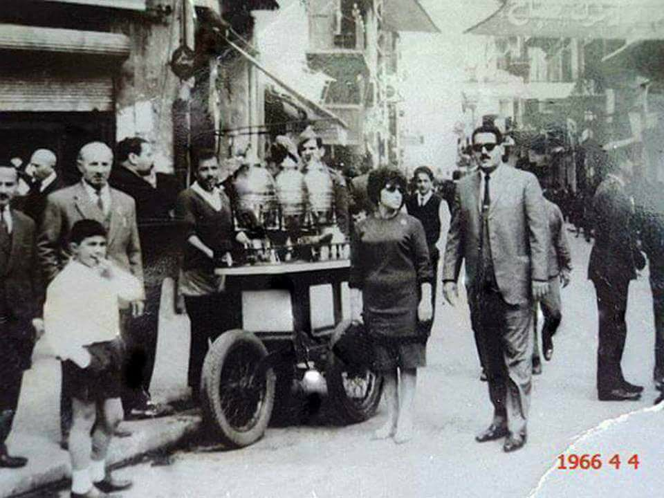 اللاذقية 1966 - شارع القوتلي مع بداية سوق العنابة