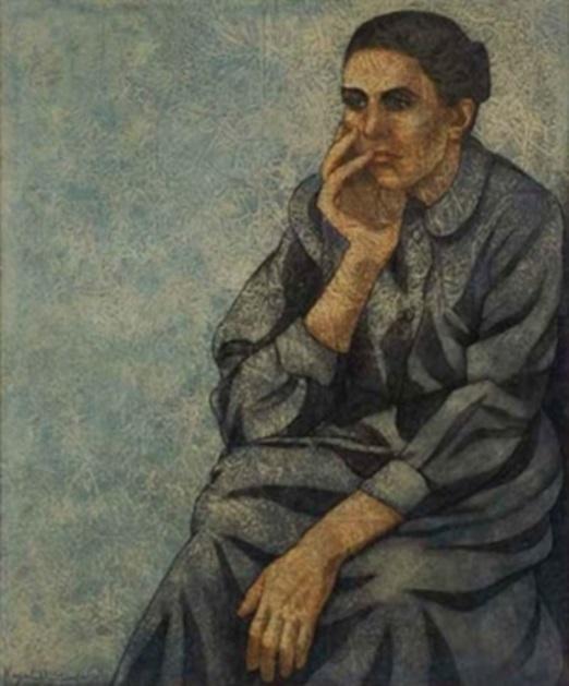 التفكير العميق .. من لوحات الفنان لؤي كيالي (26)