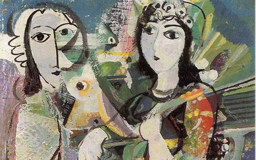 تكوين .. لوحة للفنان أحمد مادون (10)