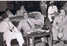 صورة سعيد الغزي وجمال عبد الناصر في القاهرة 1954