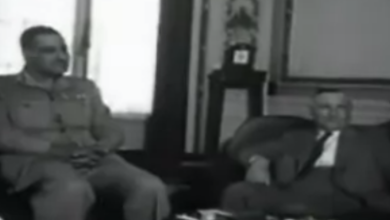صورة فيديو – زيارة سعيد الغزي رئيس الحكومة السورية إلى القاهرة 1954